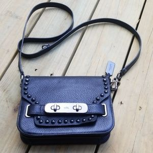 Coach Horse and Carriage Studded Leather Crossbody